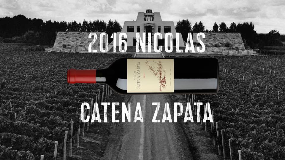 Nicolas Catena Zapata 2016 jetzt auf dem Markt