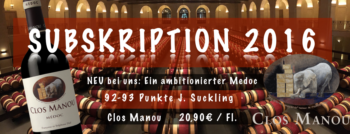 Clos Manou 2016 92-93 Punkte James Suckling 20,90€