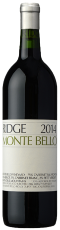 Ridge Vineyards Monte Bello Cabernet Sauvignon 2016